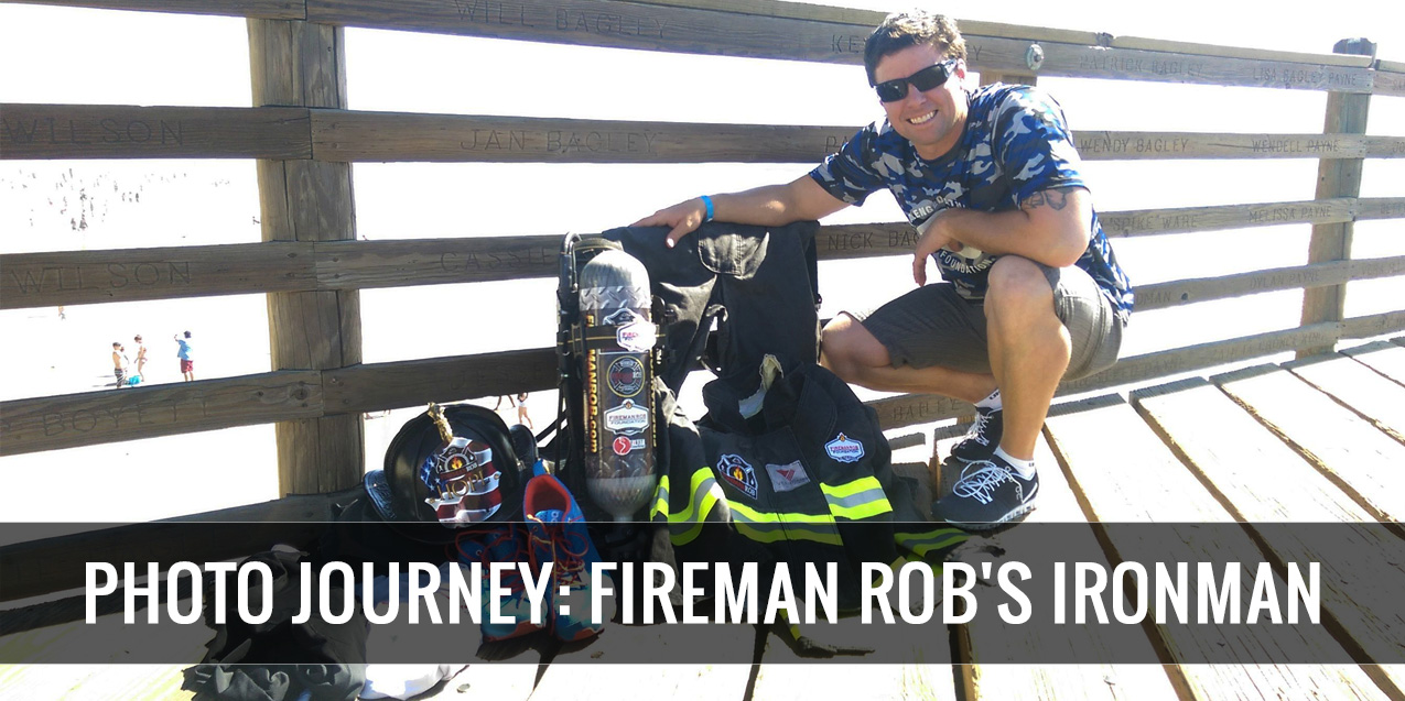 PHOTO JOURNEY: Fireman Rob takes on Oceanside IRONMAN